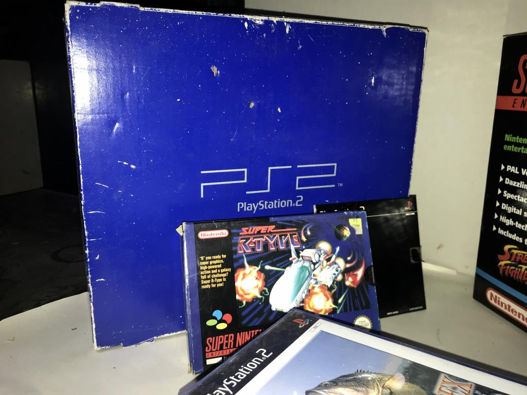 A PS2 PlayStation and a Super Nintendo system with selection of games - Image 2 of 4