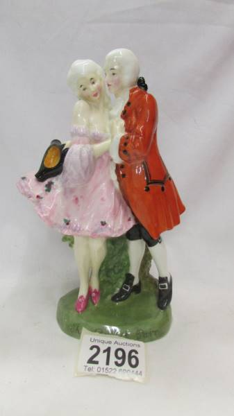 An early and rare Royal Doulton figure 'The Perfect Couple'.