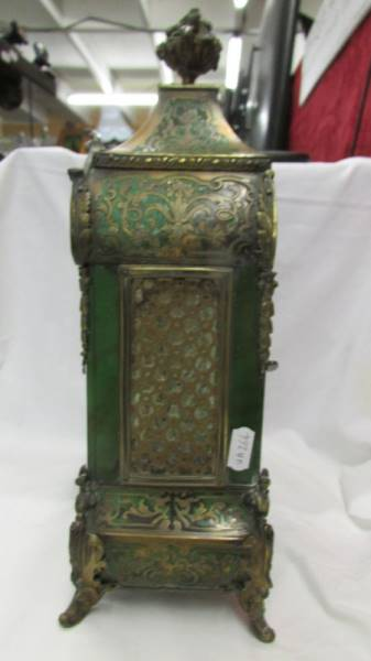 A Victorian Beulle mantel clock in good working order and in good condition with no lifting of - Image 5 of 18