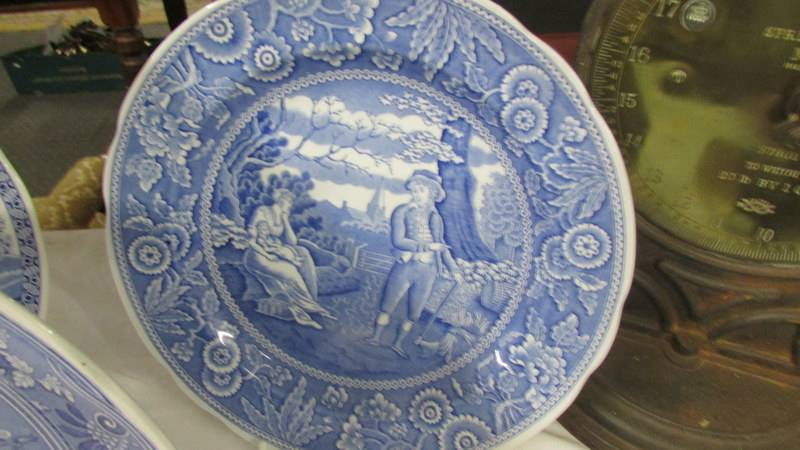 Three Spode blue and white plates. - Image 2 of 4
