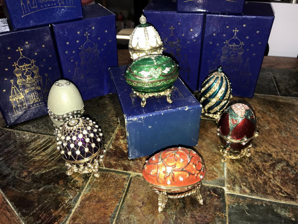 7 boxed Atlas decorative eggs - Image 2 of 2