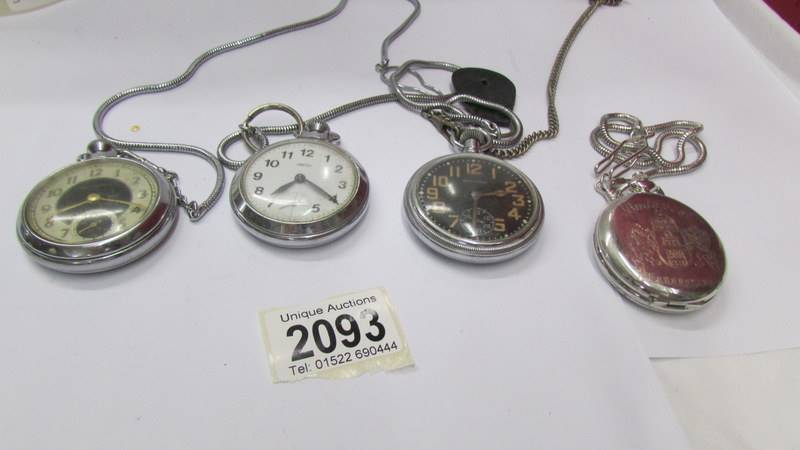 Four pocket watches.