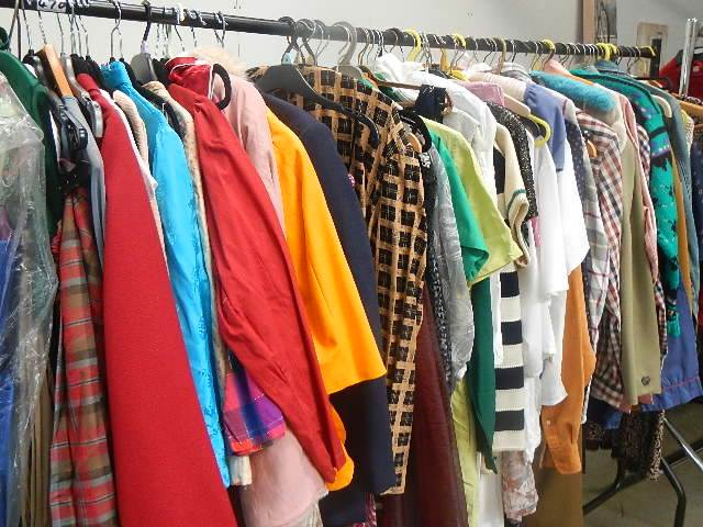 A full rail of vintage and other clothing. - Image 8 of 12