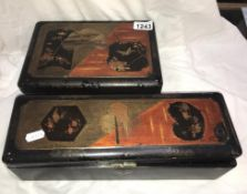 2 Japanese lacquered boxes A/F