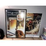 A framed Castle Eden Ale advertising print and 1 other