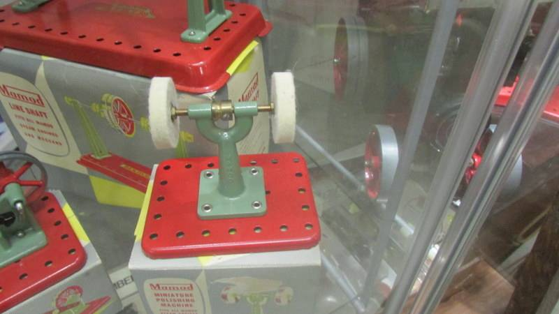 Five boxed Mamod steam engine accessories including power hammer, polisher etc. - Image 4 of 6