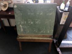 A 1950's 'A' frame child's blackboard.