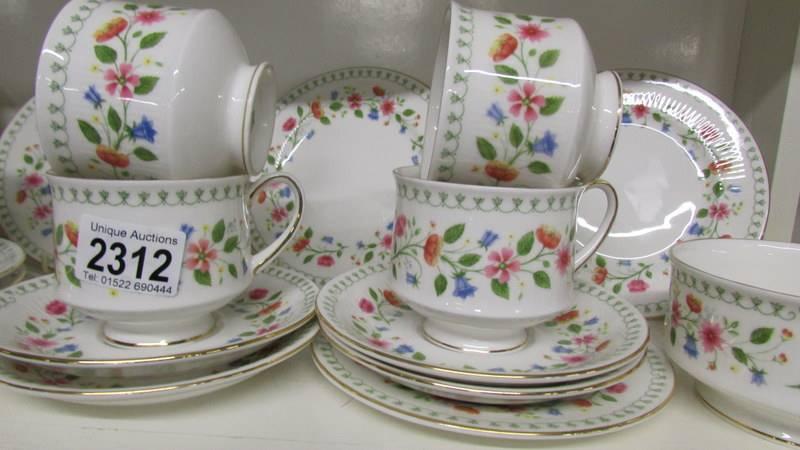 """A 20 piece Paragon """"Anastasia"""" pattern tea set. - Image 2 of 2"""
