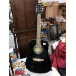 "A black Clifton 41"" Western guitar a/f"