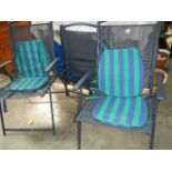 Three good folding garden chairs.