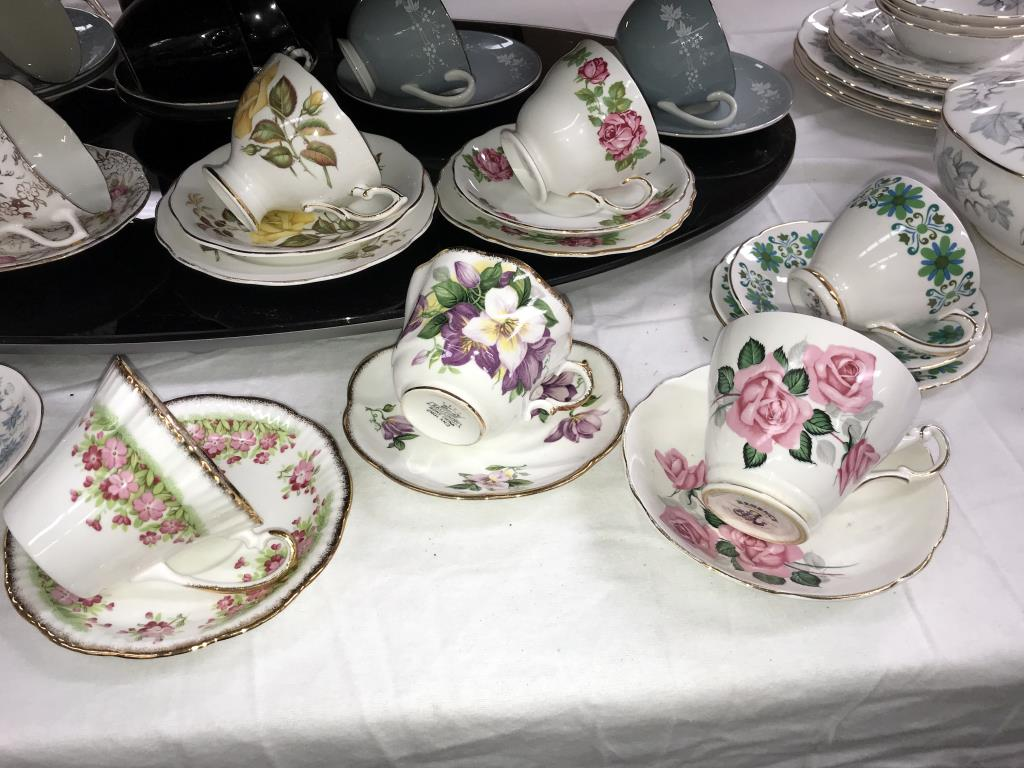 A quantity of porcelain trio's & cups & saucers including Royal Albert etc. - Image 7 of 7
