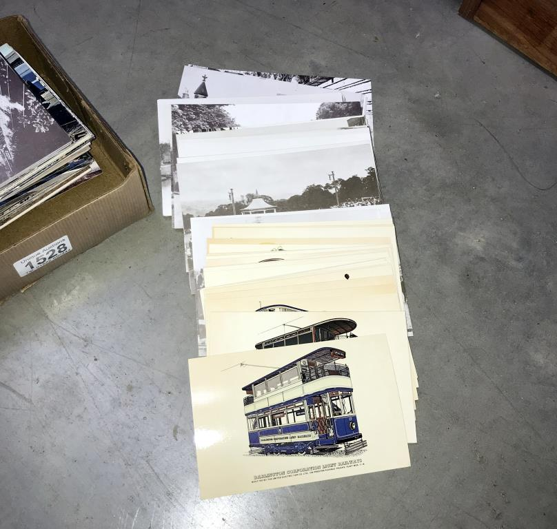 2 albums and a box of loose postcards, mostly trains, - Image 2 of 7