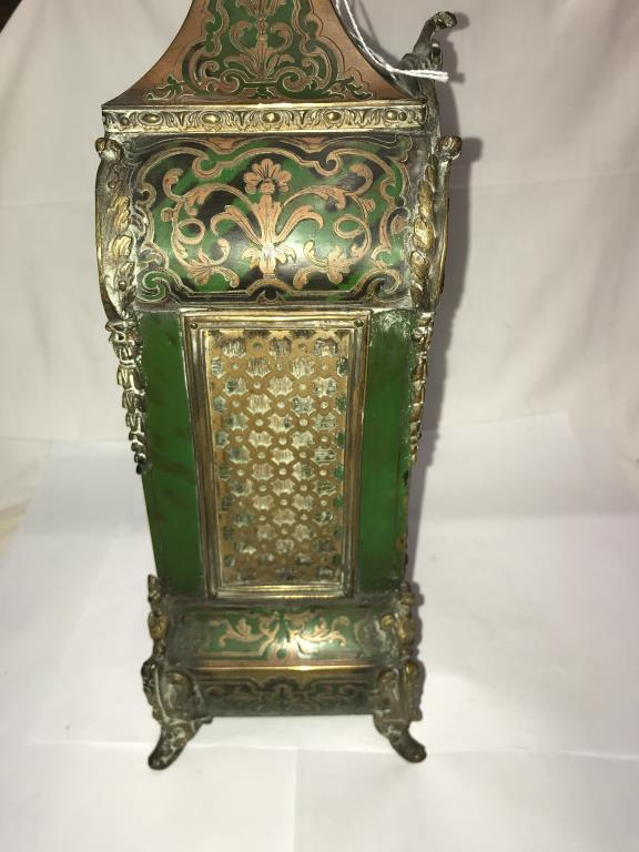 A Victorian Beulle mantel clock in good working order and in good condition with no lifting of - Image 11 of 18