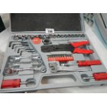 A new tool kit with spanners, ring spanners etc.