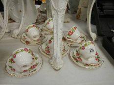 An 18 piece tea set.