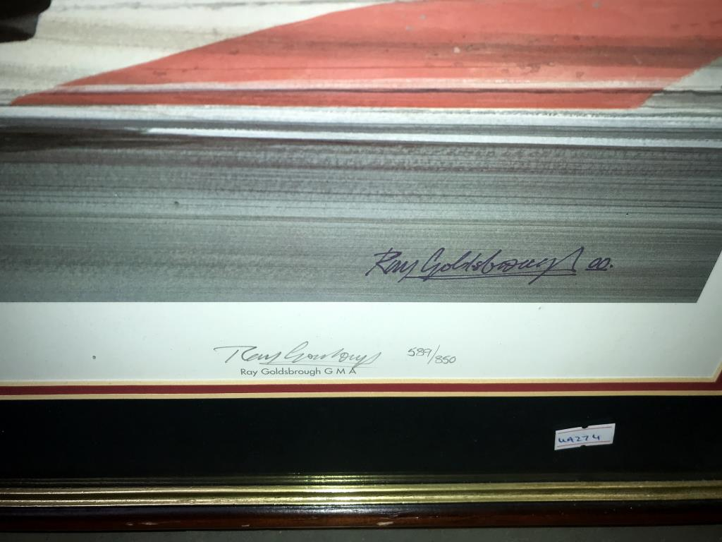 5 limited edition framed & glazed motorcycle pictures of Carl Fogarty. Signed C.F & Ray Goldsbrough. - Image 15 of 26