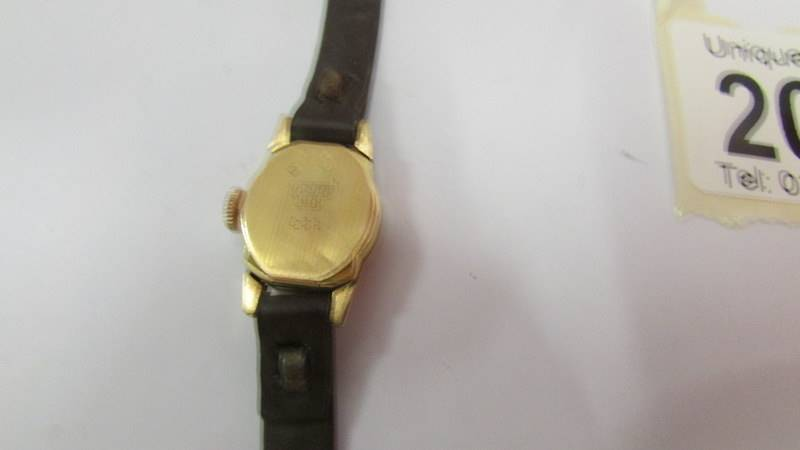 An 18ct gold ladies wrist watch (not working). - Image 2 of 2