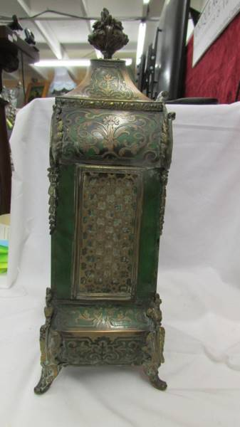 A Victorian Beulle mantel clock in good working order and in good condition with no lifting of - Image 8 of 18