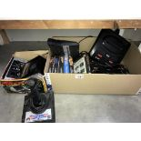 An Atari 2600 Sega MegaDrive II & Top Gun thrust master joy stick (all untested)