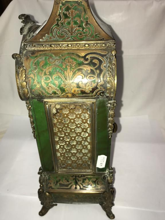 A Victorian Beulle mantel clock in good working order and in good condition with no lifting of - Image 12 of 18