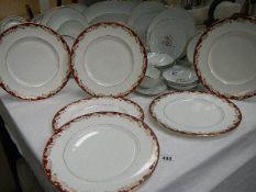 Six Royal Doulton dinner plates.