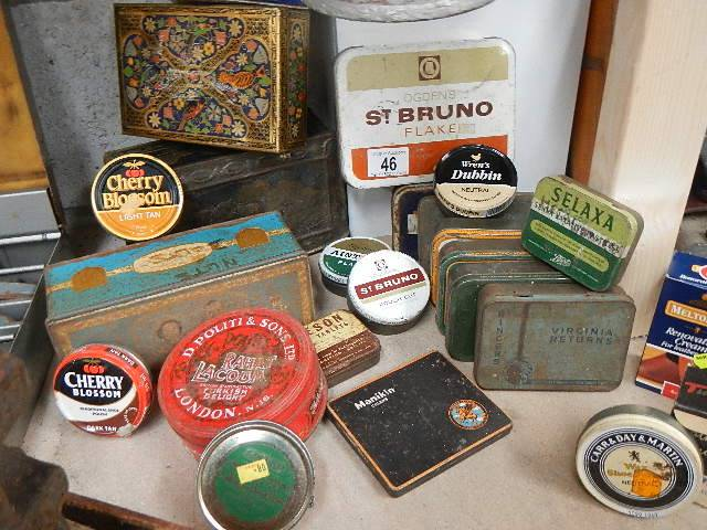 A quantity of old tins.