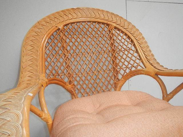 A conservatory chair and stool. - Image 2 of 3