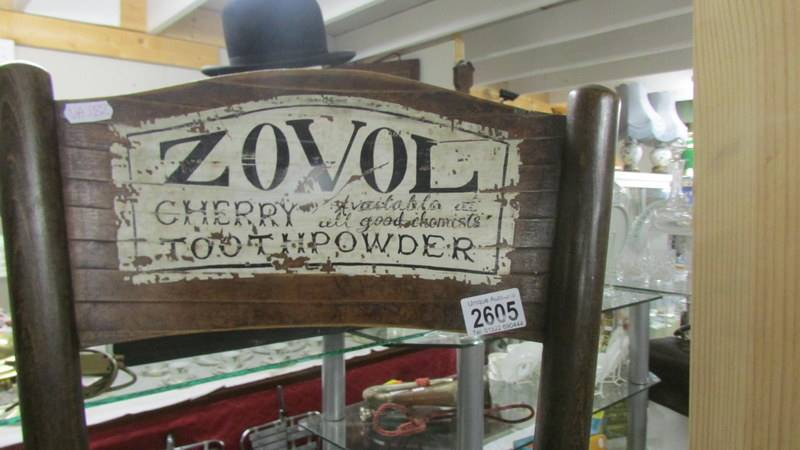 A bentwood chair with Zovol signage. - Image 2 of 2