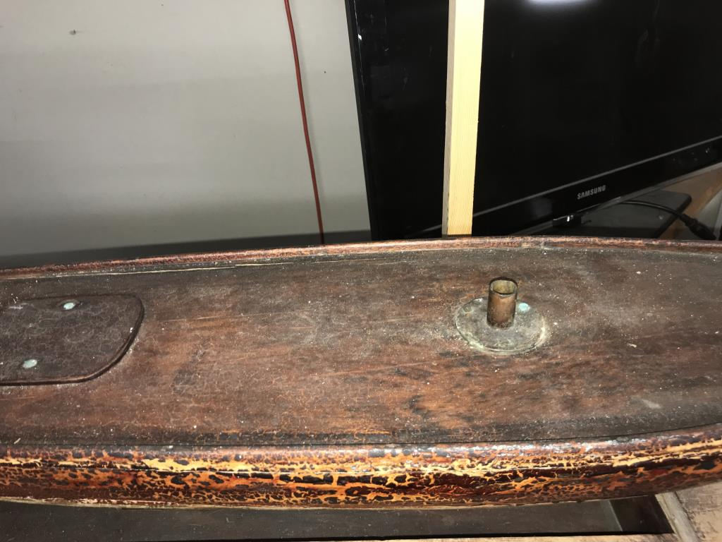 A 19th century part built pond yacht with sails. - Image 6 of 7