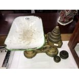 A set of vintage scales & Weights