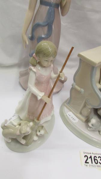 Three Lladro figures including girl at piano, - Image 6 of 6