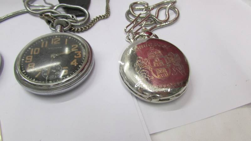Four pocket watches. - Image 2 of 3