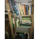 3 shelves of golf related books.