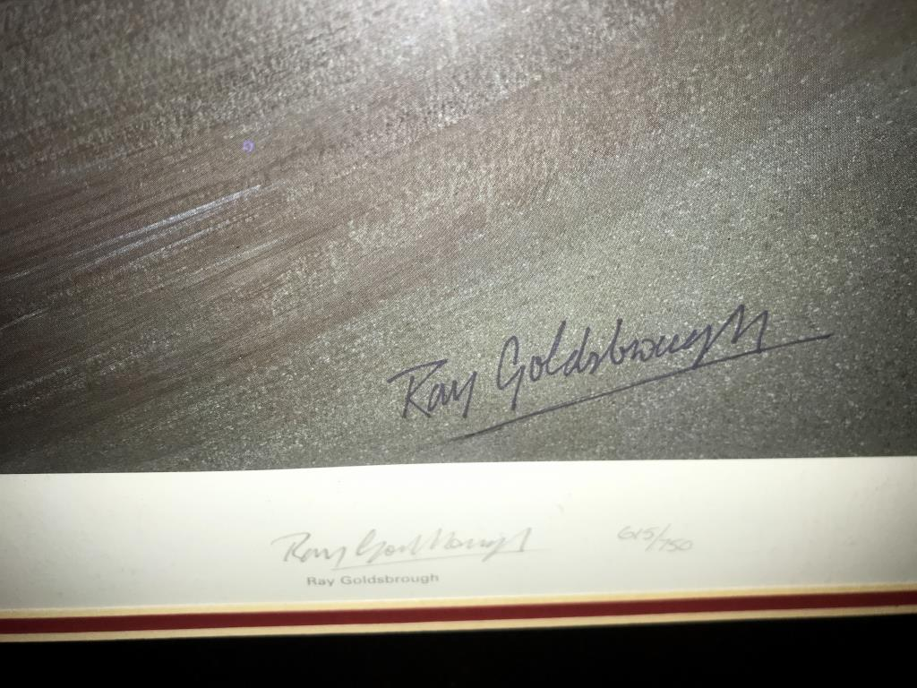 5 limited edition framed & glazed motorcycle pictures of Carl Fogarty. Signed C.F & Ray Goldsbrough. - Image 26 of 26