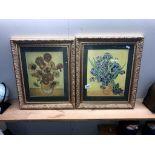 2 framed and glazed Vincent Van Gogh prints 48.