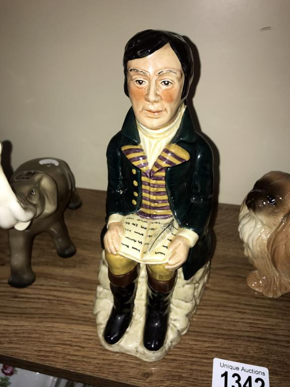 A selection of pottery dogs, Trentham elephant, Tony Wood & Robert Burns etc. - Image 3 of 4