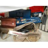 A large quantity of tools including spanners, drills etc.