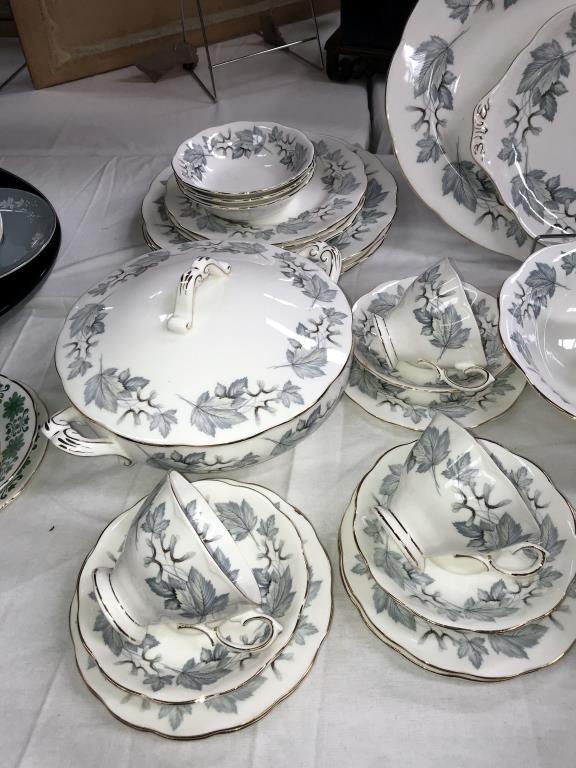 A 49 piece Royal Albert silver maple dinner & tea set - Image 2 of 5
