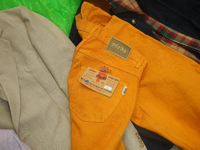 A rail of assorted suits, jackets and other clothing. - Image 10 of 11