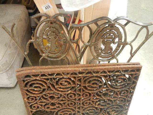 4 pieces of old iron work.