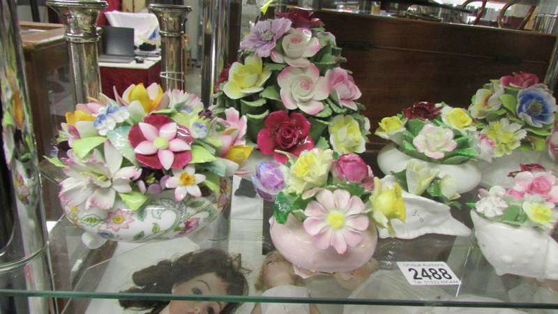 A collection of porcelain posies including Minton, Royal Doulton etc. - Image 3 of 3
