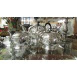 A 3 piece silver plate tea set in good clean condition..