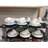 3 vintage part tea sets, Grafton 16 piece,