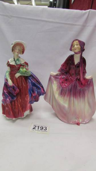 Two Royal Doulton figures - Sweet Anne HN1496 and Lady April (a/f) HN1958.
