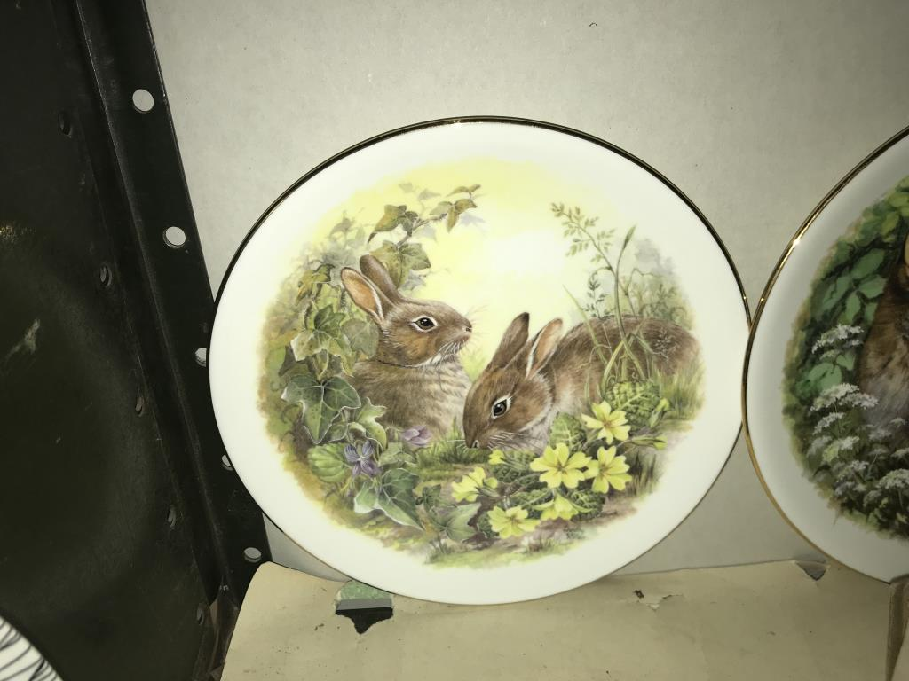 A selection of collectors cabinet plates including aircraft etc. - Image 6 of 12