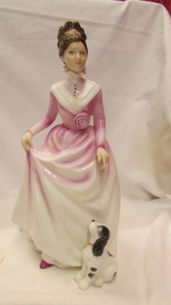 Two Royal Doulton figurines - Flower of Love, HN 3970 and Good Companion, HN 2347. - Image 4 of 5