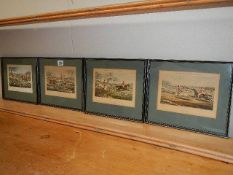 A set of four hunting prints engraved by J Harris. 31 x 24 cm.