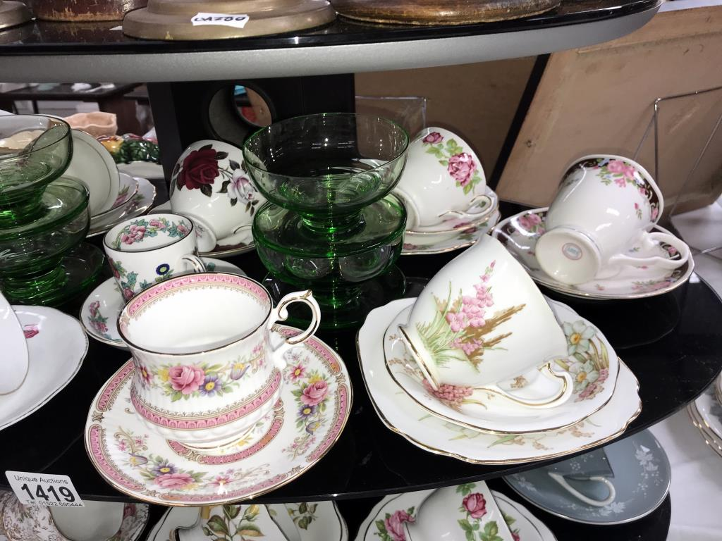 A quantity of porcelain trio's & cups & saucers including Royal Albert etc. - Image 3 of 7
