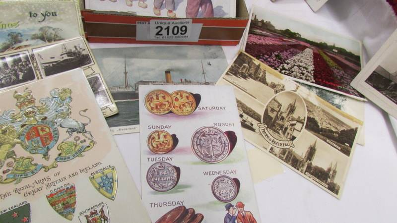 In excess of 200 interesting old postcards and greeting cards. - Image 5 of 6