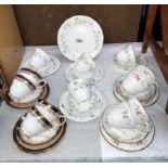 3 Duchess 12 piece tea sets,